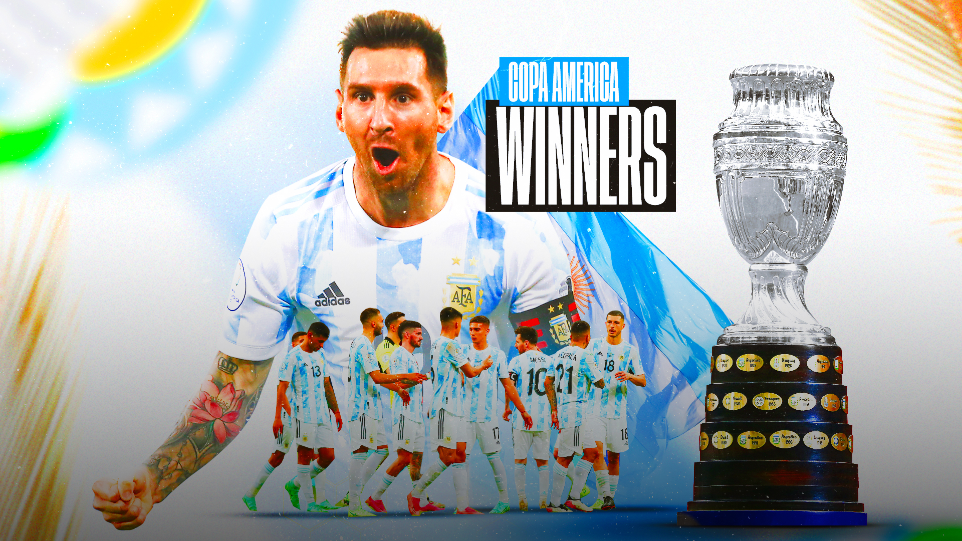 Copa América Final Top Moments:  Lionel Messi and Argentina top Brazil