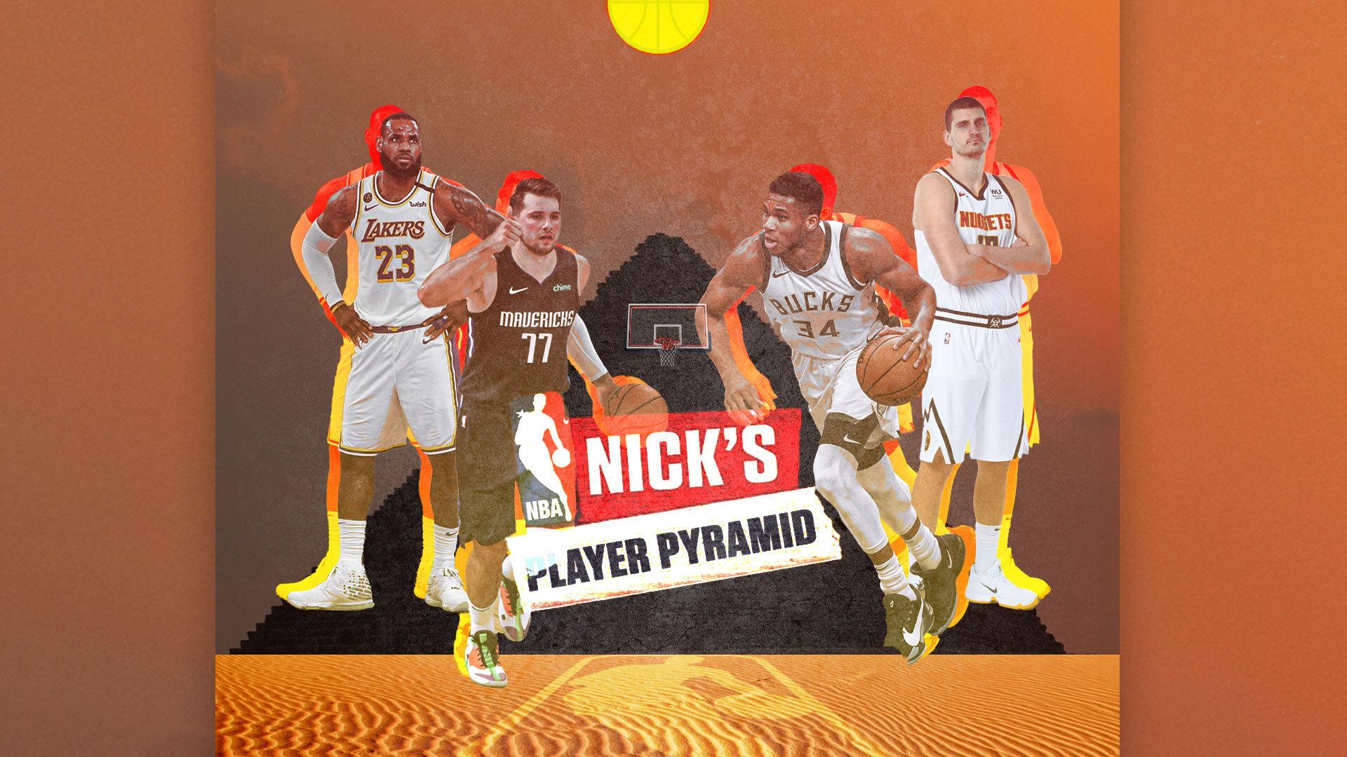 Giannis Antetokounmpo supplants LeBron James in Nick Wright's NBA player pyramid